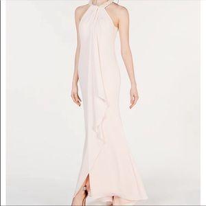 Calvin Klein pink pearl gown